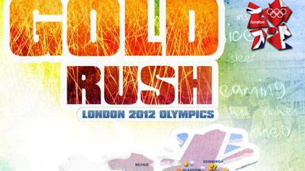 London 2012 Olympics Team GB Gold Rush Infographic
