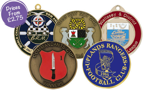 Classic Bespoke Medals with Colour Enamelling