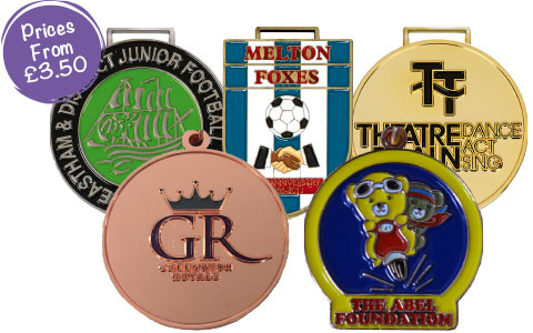 Premium Bespoke Medals with Colour Enamelling