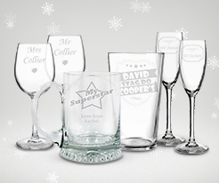 Personalised Christmas Glassware